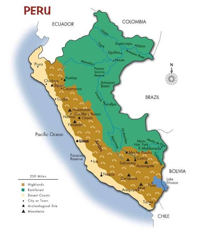 Map of Peru | Southwind Adventures