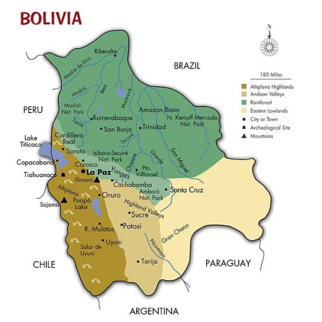 Bolivia Map - Southwind Adventures