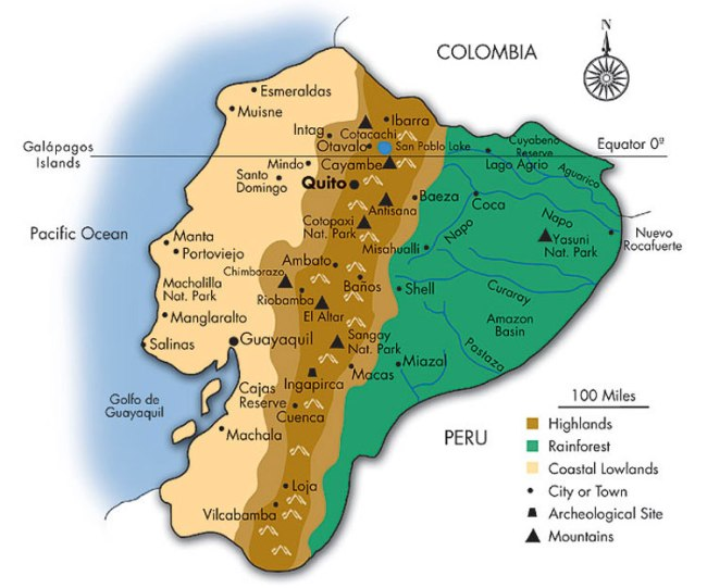 Ecuador Map Southwind Adventures